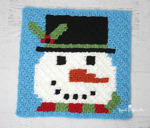 Have a Pixel Christmas: Snowman Square