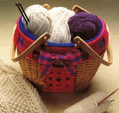 Cozy Knitting Basket Pattern