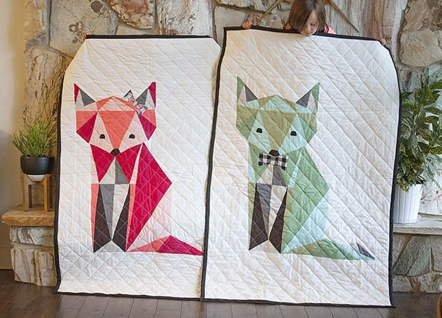 Twin Fox Quilt Pattern Favequilts Com