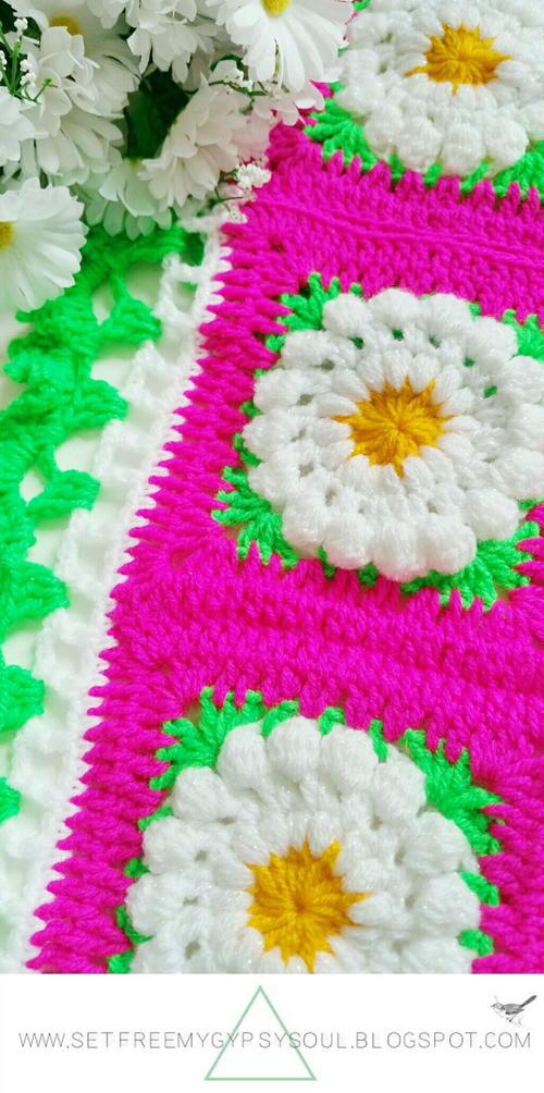 Daisy Dukes Flower Granny Square Allfreecrochet