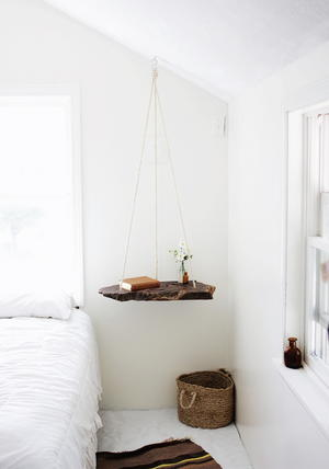 Unique Hanging DIY Nightstand
