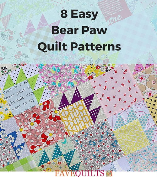 8 Easy Bear Paw Quilt Patterns | FaveQuilts.com : bear claw quilt - Adamdwight.com