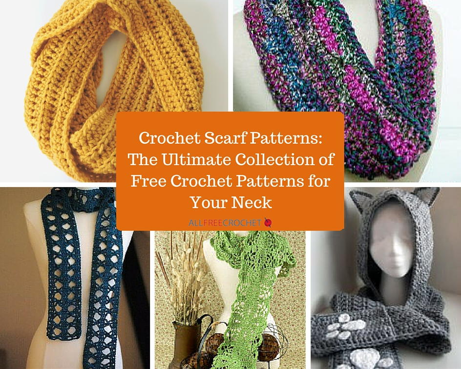 202 Crochet Scarf Patterns: The Ultimate Collection of Free Crochet ...