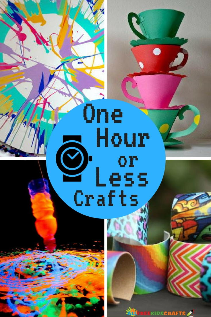 26 quick and easy crafts one hour or less for Quick crafts for kids