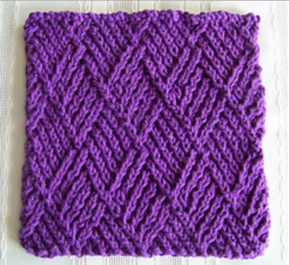 Diamond Twist Stitch Dishcloth