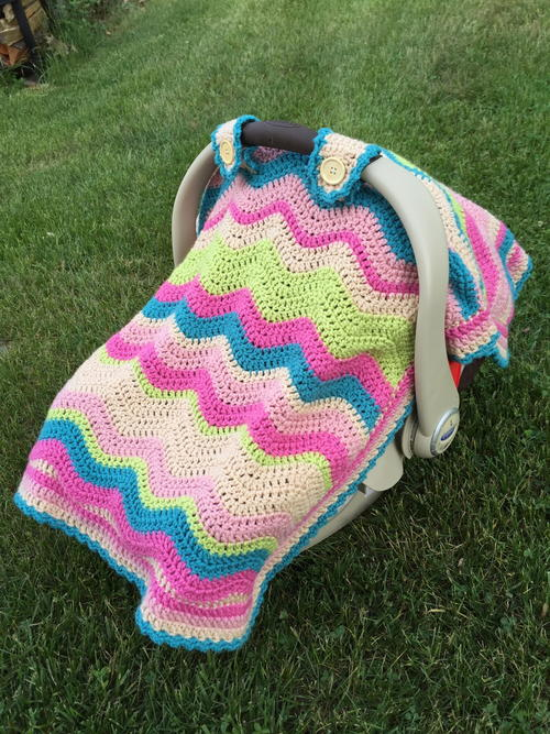 Crochet Ripple Car Seat Cover Allfreecrochet