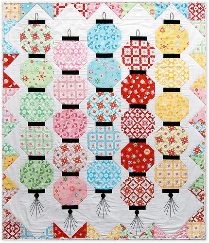 Happy Glow Japanese Lantern Quilt
