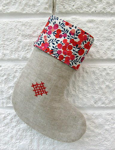 Mini Rustic Christmas Stockings