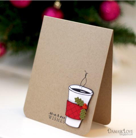 Warm wishes diy christmas card for Giant christmas card ideas