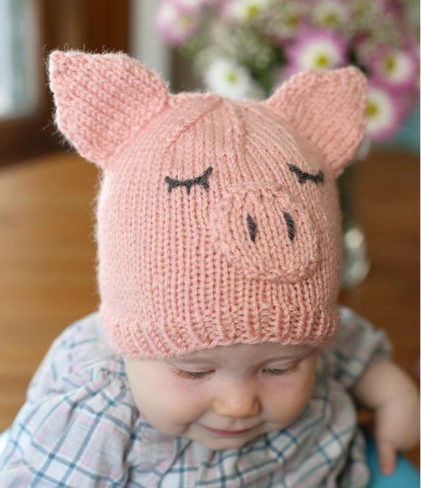This Little Piggy Went Home Baby Hat Allfreeknitting Com