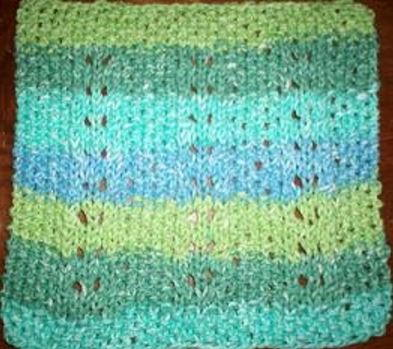 Country Stripes Dishcloth Knitting Pattern