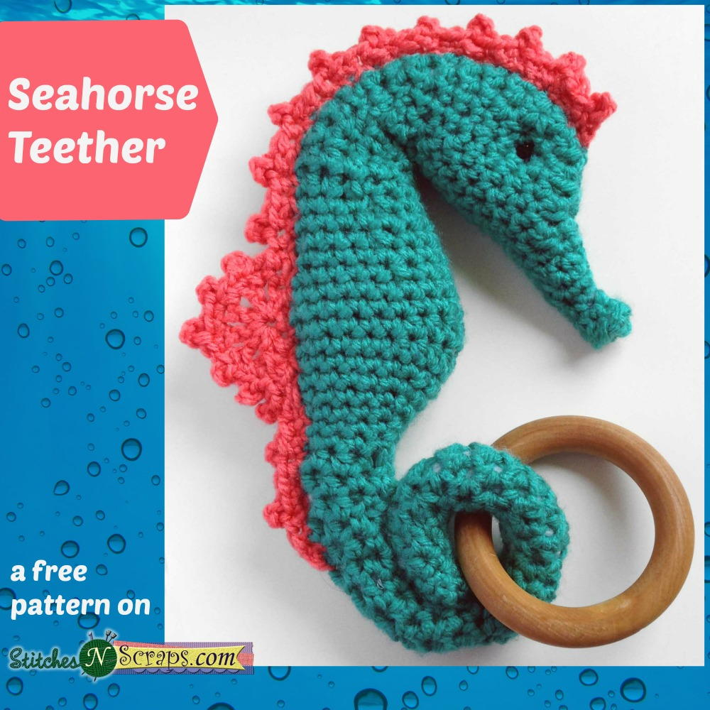 Seahorse teether allfreecrochet bankloansurffo Image collections