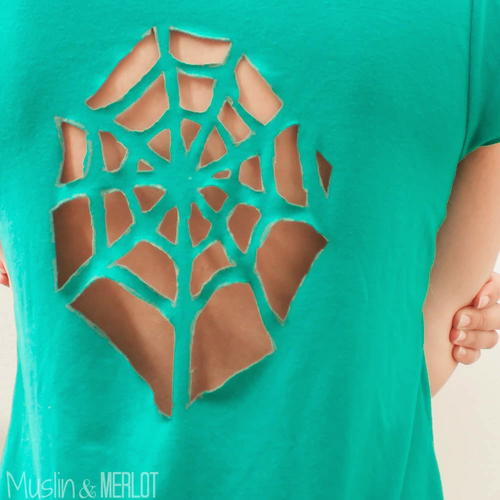 Spider Web No-Sew T-Shirt
