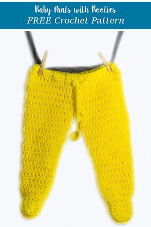Crochet Footed Baby Pants Allfreecrochet