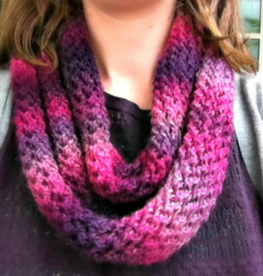 Petunia One Skein Scarf Knitting Pattern Allfreeknitting