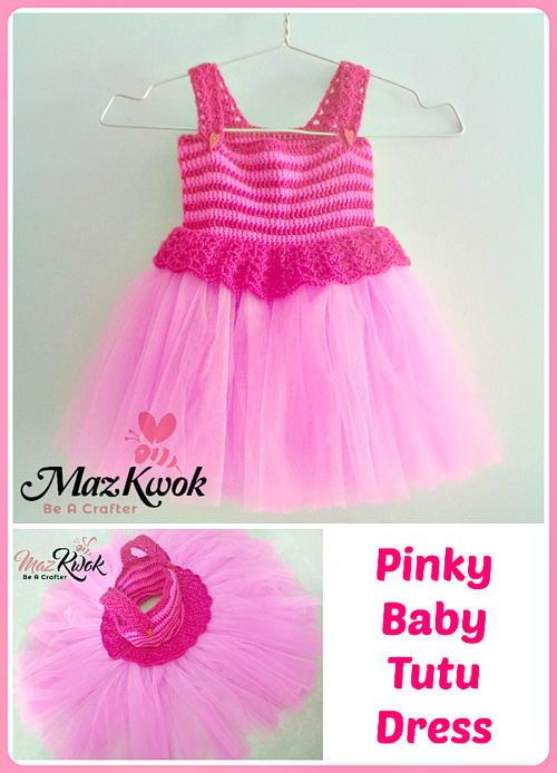 Pinky Baby Tutu Dress Allfreecrochet