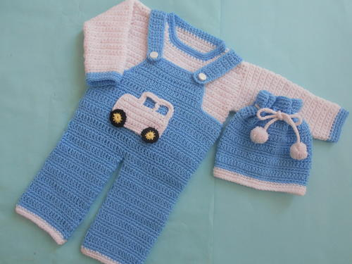 Boy Romper Set Allfreecrochet