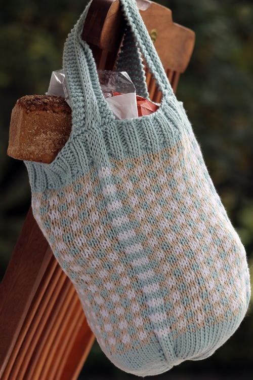 Fair Isle Market Knit Bag Pattern | AllFreeKnitting.com