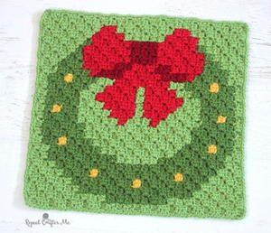Have a Pixel Christmas: Wreath Square