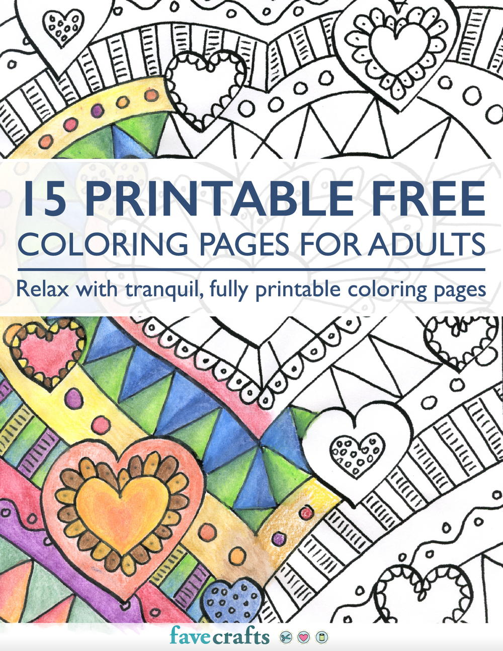 15 printable free coloring pages for adults [pdf] | favecrafts