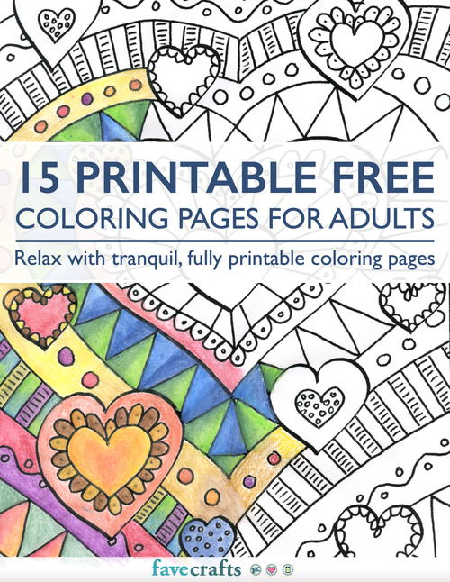 15 Printable Free Coloring Pages for Adults PDF FaveCraftscom
