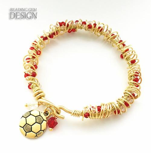 Seed Bead Wire Wrapped Bracelet | AllFreeJewelryMaking.com