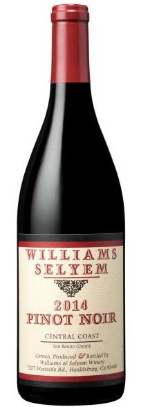 Williams Selyem Central Coast Pinot Noir 2014