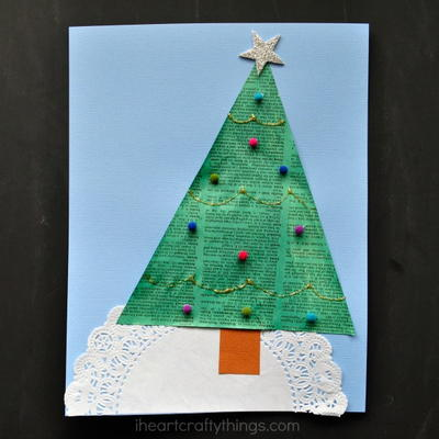 Old Newspaper Christmas Tree Craft