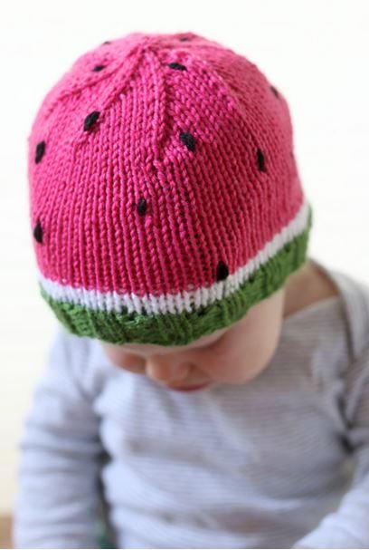 Watermelon Baby Hat Pattern Allfreeknitting