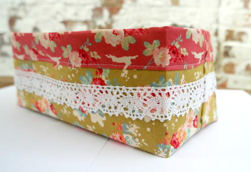 Fat Quarter Fabric Basket