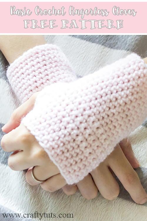 Basic Fingerless Gloves | AllFreeCrochet.com