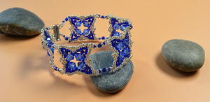 Royal Blue Seed Bead Bracelet