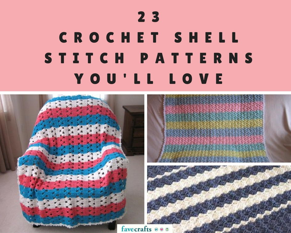 23 Crochet Shell Stitch Patterns You