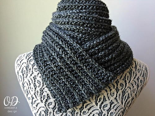 Classic Mens Ribbed Scarf Allfreecrochet
