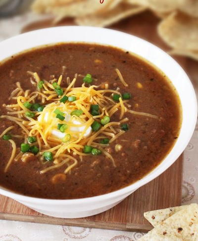 Easy Slow Cooker Taco Soup