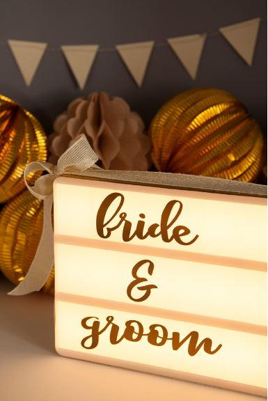 Lightbox Sign DIY Wedding Printables