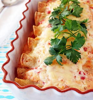 Slow Cooker Pork Tenderloin Enchiladas