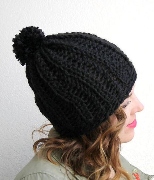 Cozy Ribbed Slouchy Hat