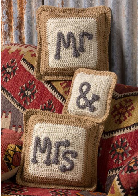 Mr  Mrs Crochet Pillows
