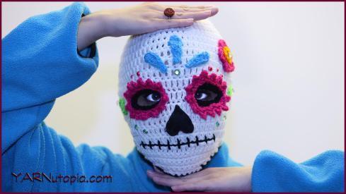 Sugar Skull Ski Mask Allfreecrochet