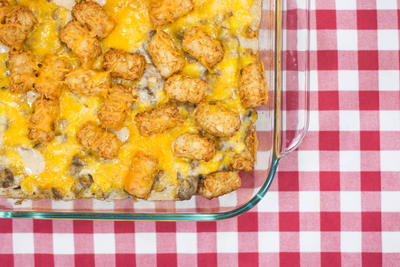 Cowboy Tater Tot Casserole for Two