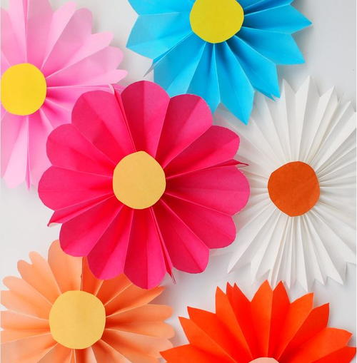 Accordion fold paper flowers for kids allfreepapercrafts accordion fold paper flowers for kids mightylinksfo