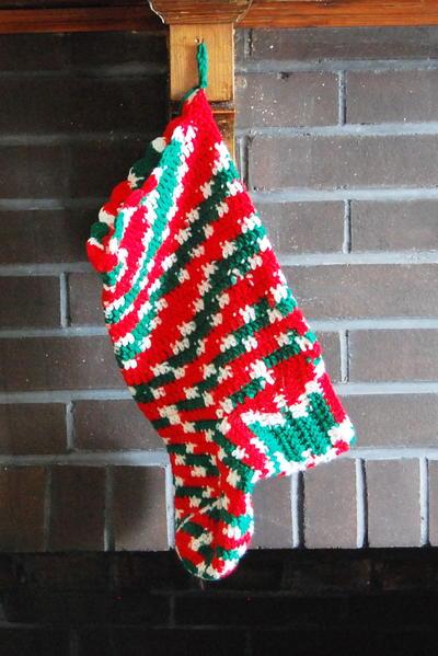 Free Crochet Christmas Stocking Pattern
