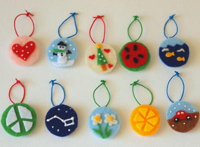 felt art christmas ornament crafts for kids