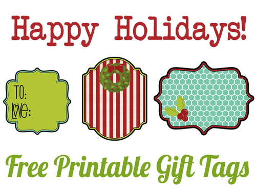 Fa-La-La Festive Printable Christmas Tags