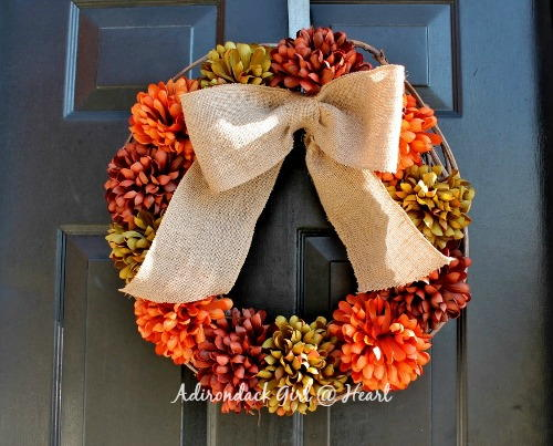 Festive Country DIY Fall Wreath