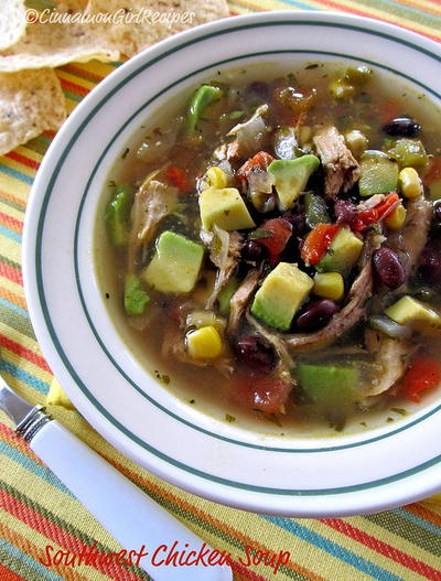 Slow Cooker Southwest Chicken Soup