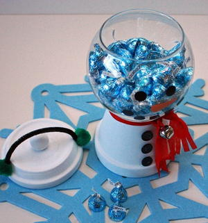 Christmas Snowman Candy Bowl