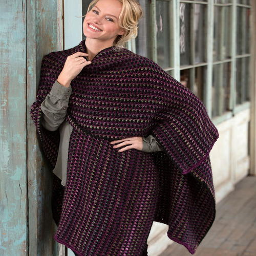 Around Town Crochet Ruana Wrap Allfreecrochet