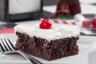 Chocolate Cherry Cola Poke Cake